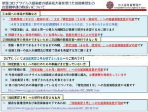 20200414_新型コロナウィルス関連の技能実習生の在留書申請の取り扱い01